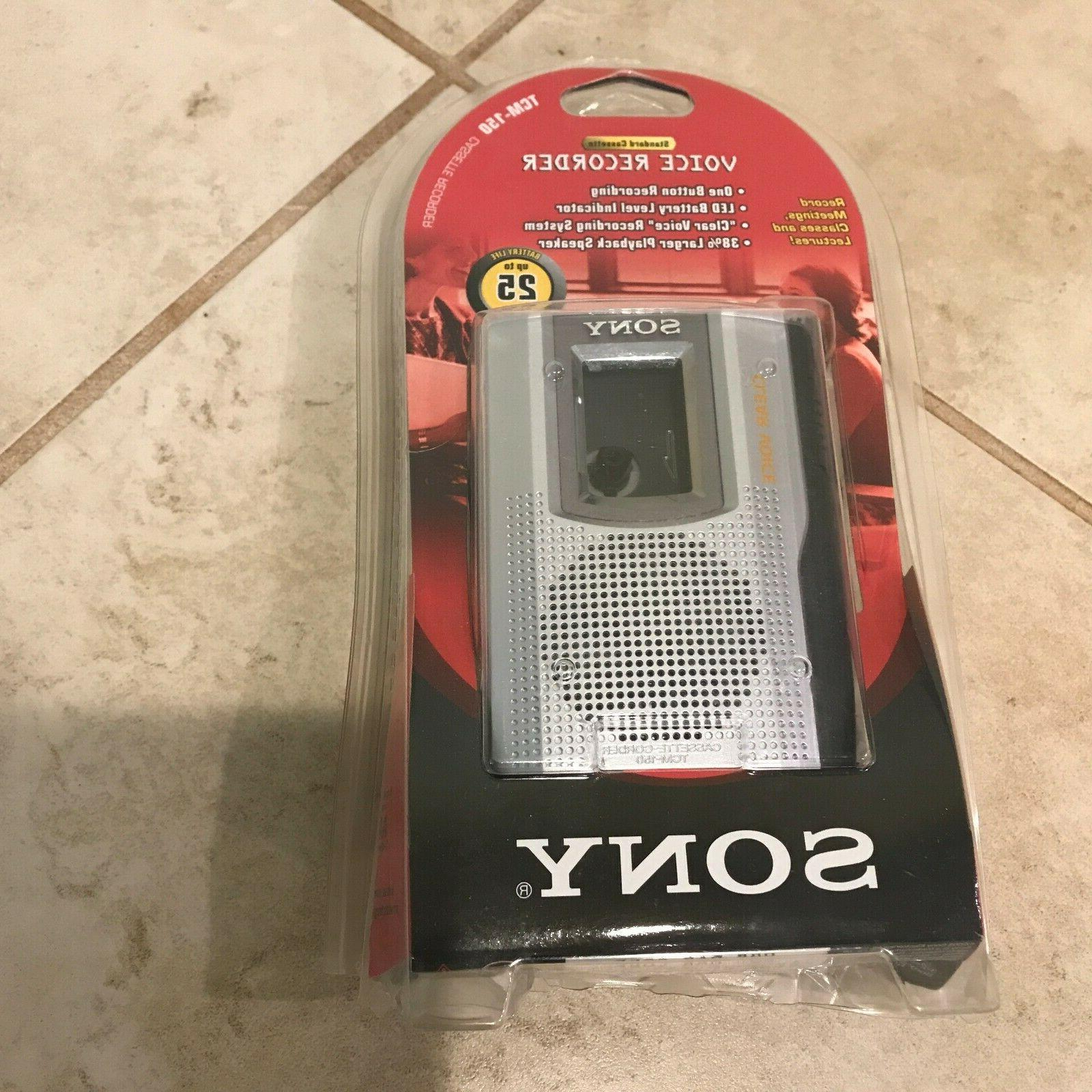 Sony TCM-150 Standard Cassette Voice Recorder