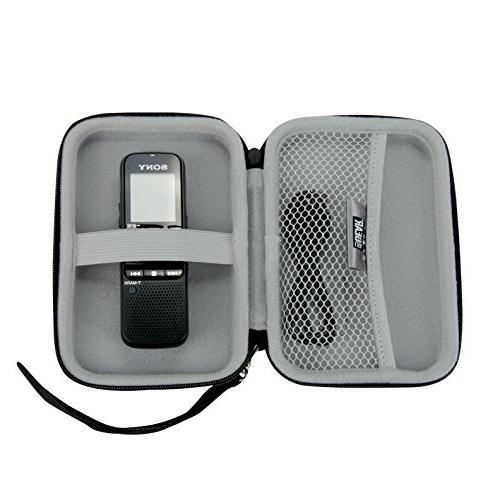 USA Gear Protective Hard Shell Digital Slim Dennov, DP-201, VR-BK8 More Compact Voice Recorders - Black
