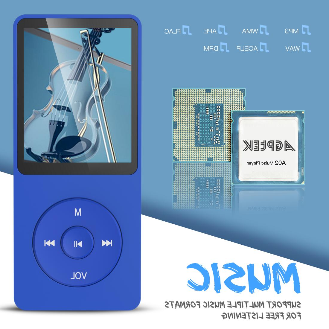 AGPTEK A02 8GB Player with Voice Recorder, Playback