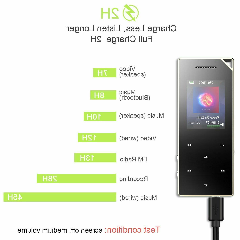 AGPTEK A05ST Bluetooth Metal 16GB with Speaker/Voice