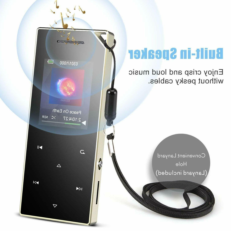 AGPTEK Bluetooth Metal MP3 16GB with Speaker/Voice