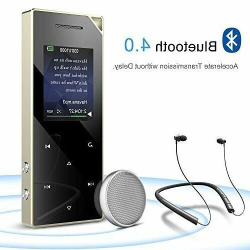 AGPTEK Bluetooth 4.0 Metal Player 16GB Speaker/Voice
