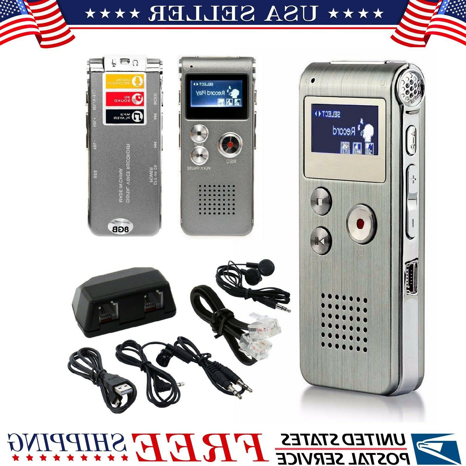 Voice Activated Mini Spy Digital Sound Audio Recorder Dictap