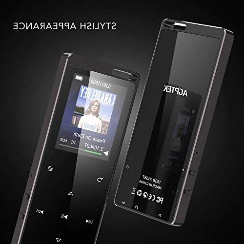 AGPTEK MP3 with Bluetooth, Music Radio Voice Supports Independent Control Up Card,