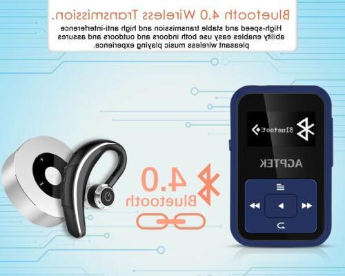 AGPTEK Bluetooth MP3 8GB Slot up for Sport