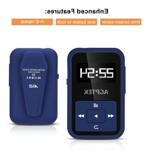 AGPTEK MP3 8GB with Clip Slot up for