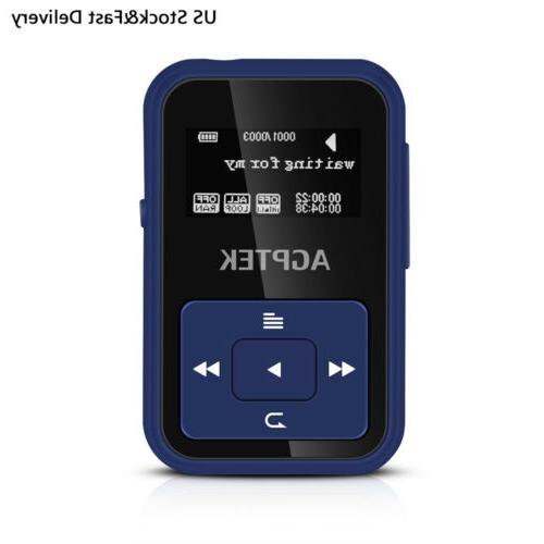 bluetooth 8gb mp3 player with clip fm
