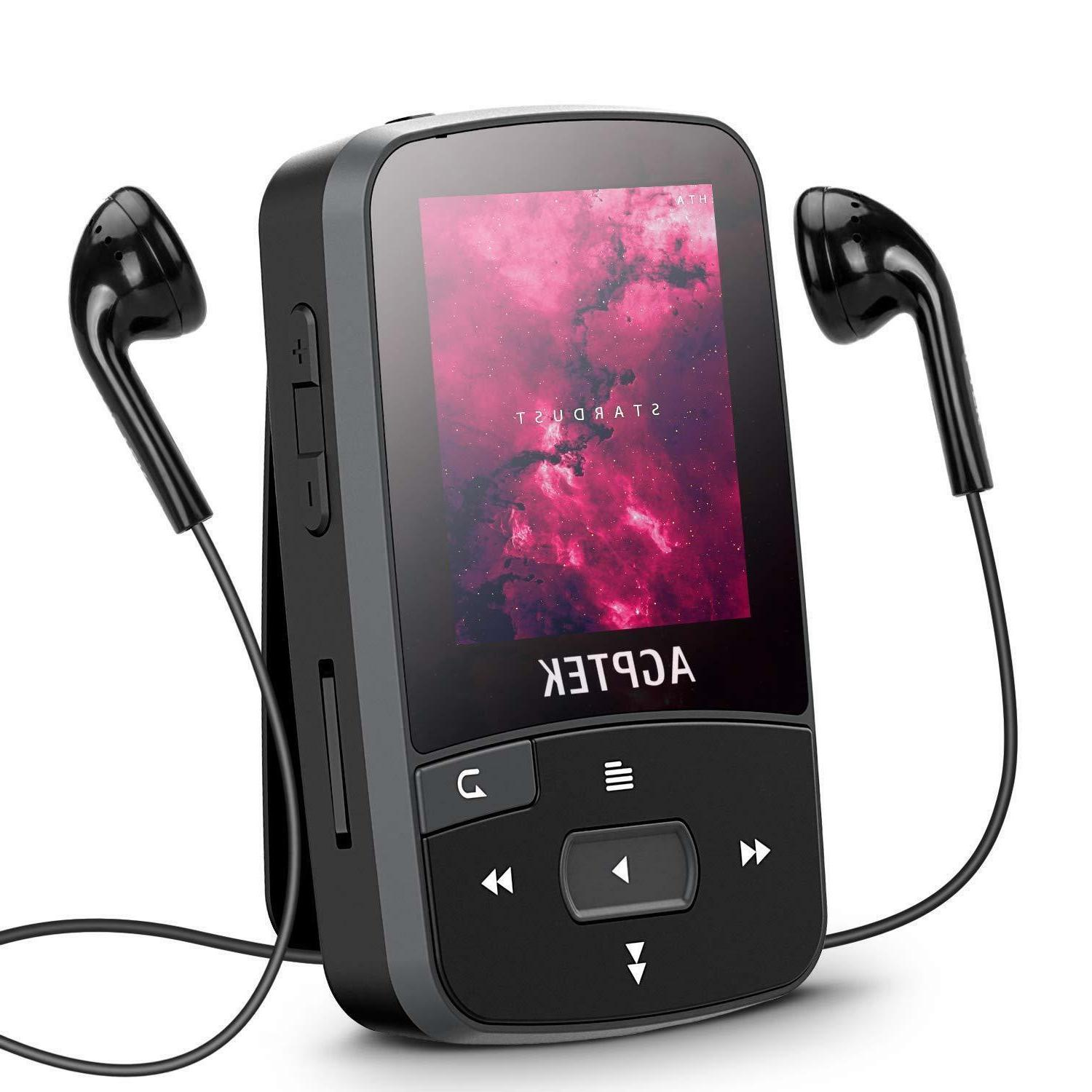 bluetooth clip mp3 player 16gb fm voice