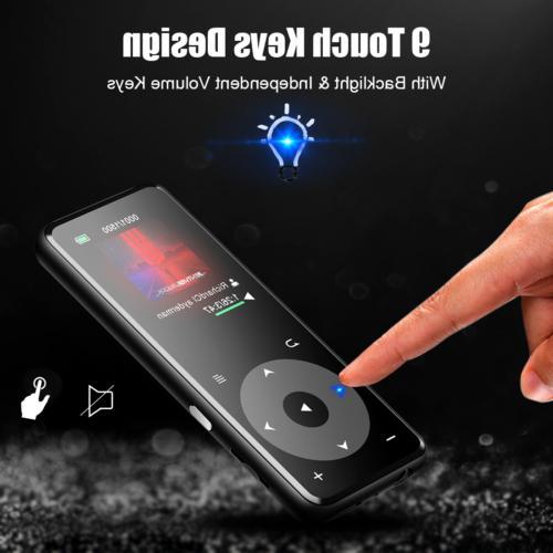 AGPTEK MP3 Player Bluetooth 16GB with Speaker FM