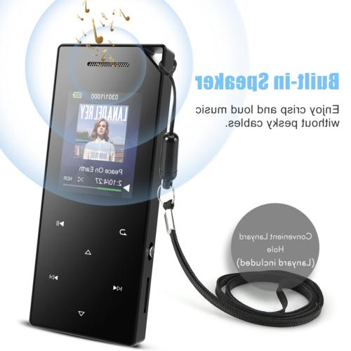 AGPTEK MP3 Player Bluetooth 16GB Sound Speaker FM Recorder
