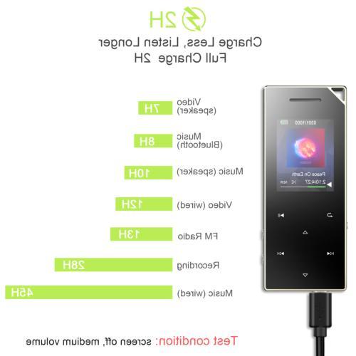 AGPTEK 16GB Player Radio/Voice Recorder