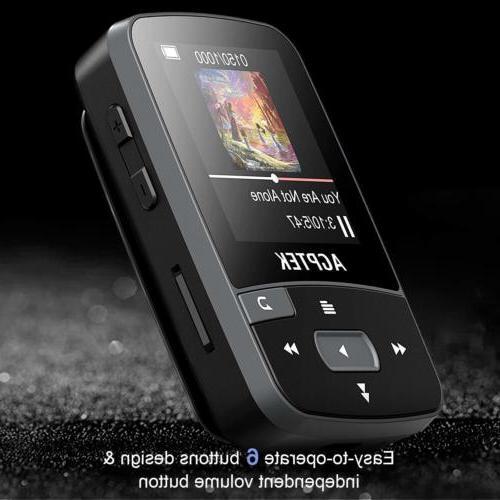 AGPTEK 16GB with Clip FM Recorder