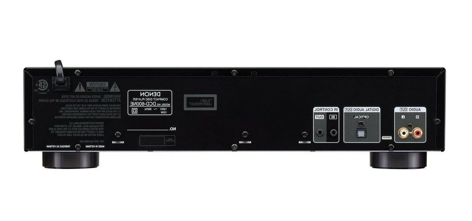 DENON DCD600NE CD PLAYER WITH AL32 PROCESSING DCD-600NE