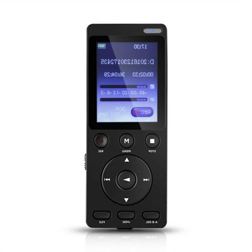 digital audio voice recorder voice activated built