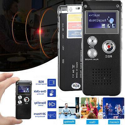 digital sound activate audio recording device voice