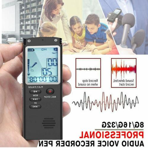 Digital Voice Activated Audio Recording Device 32G Voice Rec