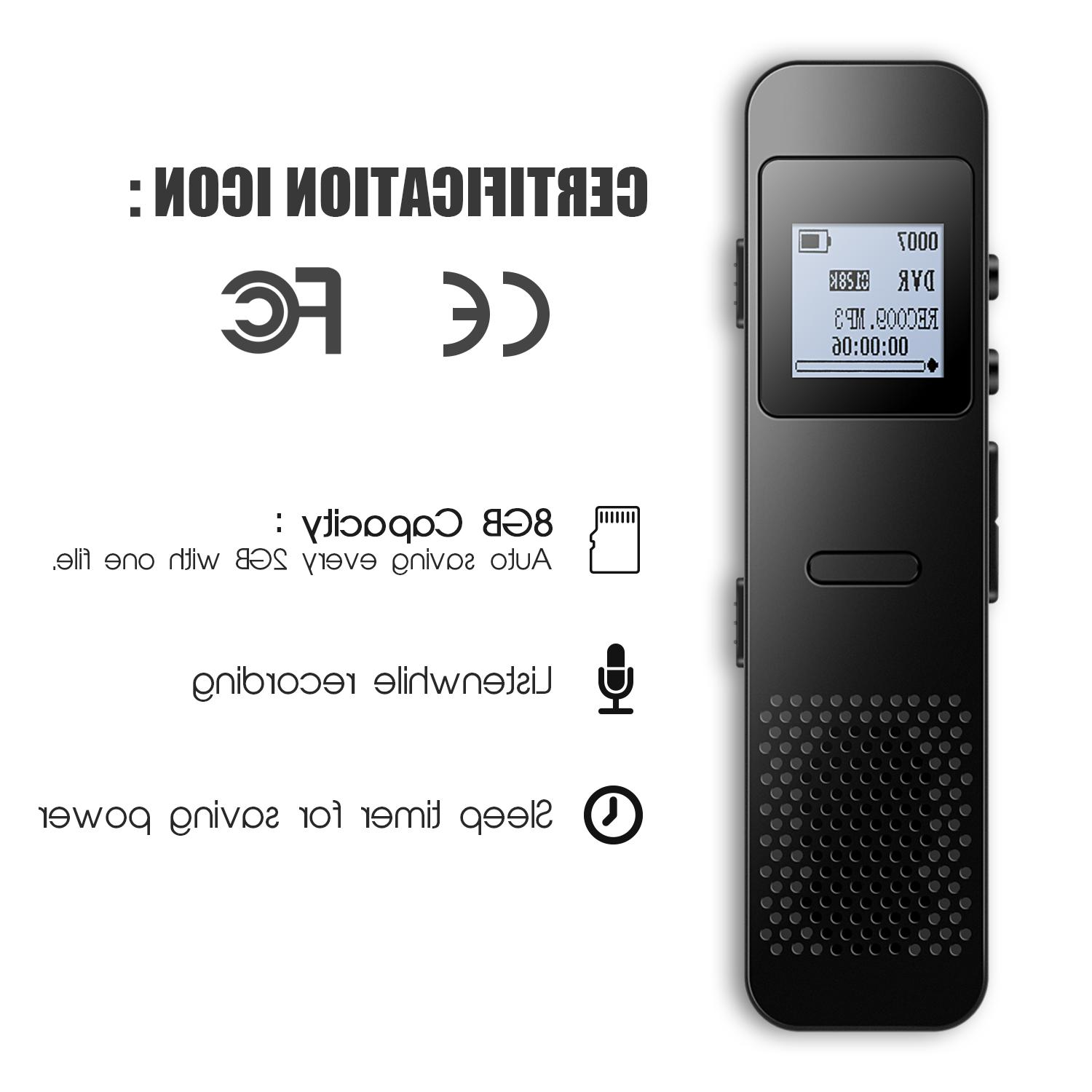 AGPTEK Digital Recorder, LCD Screen