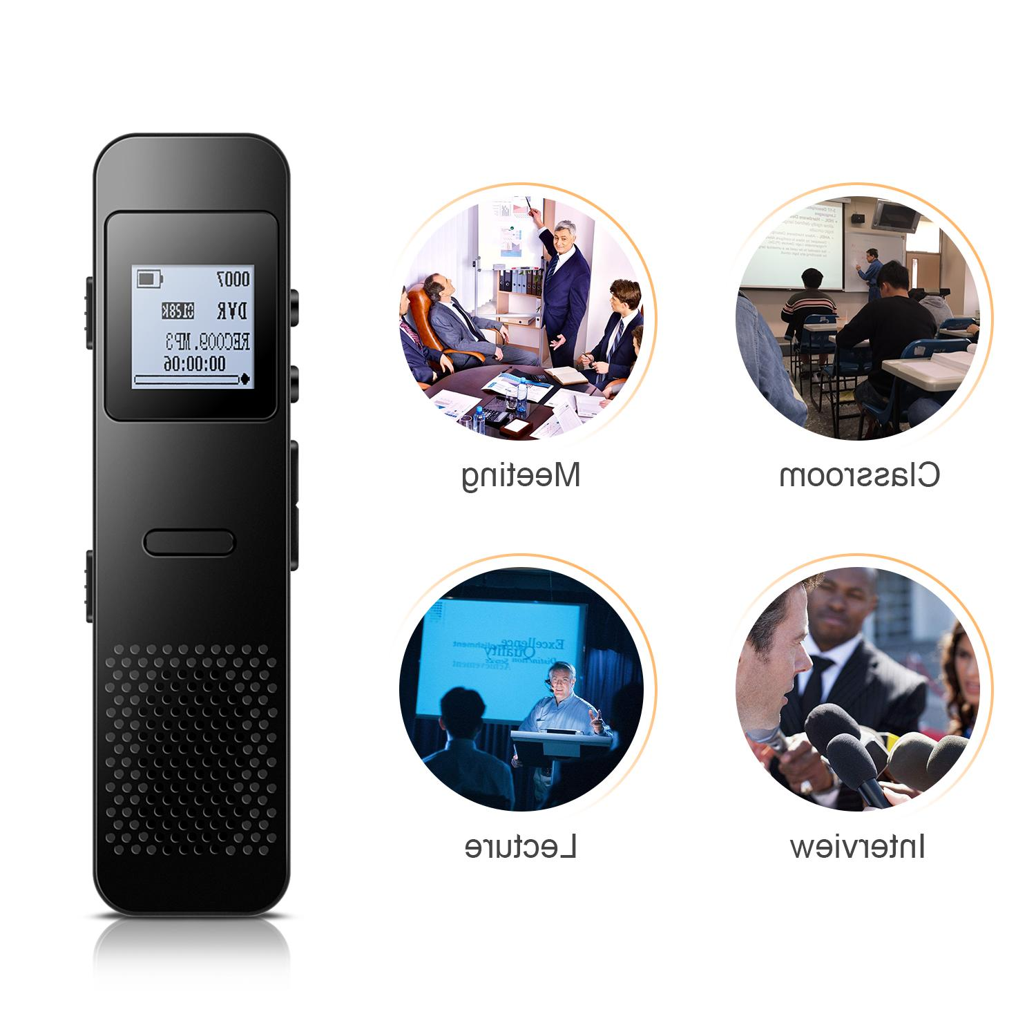 AGPTEK Digital Voice Activated Recorder, 8GB LCD