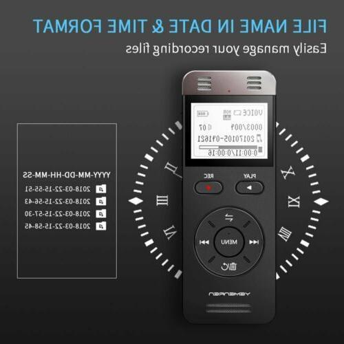 Digital Yemenren Sound Recorder Dictaphone f