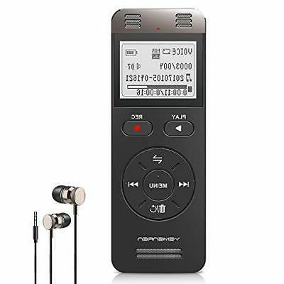 digital voice activated recorder 8gb sound audio