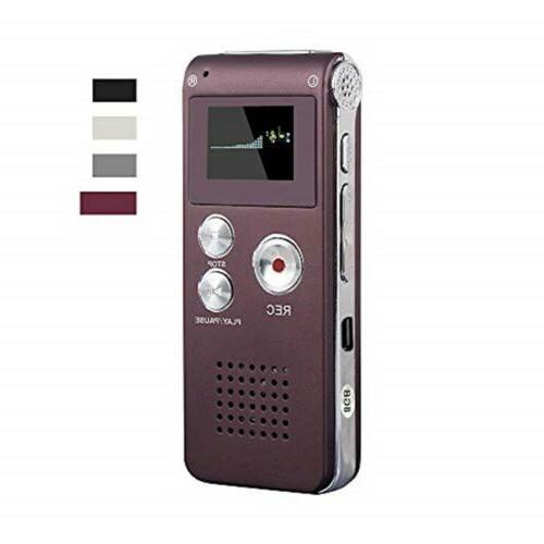 digital voice recorder 8gb audio voice activated