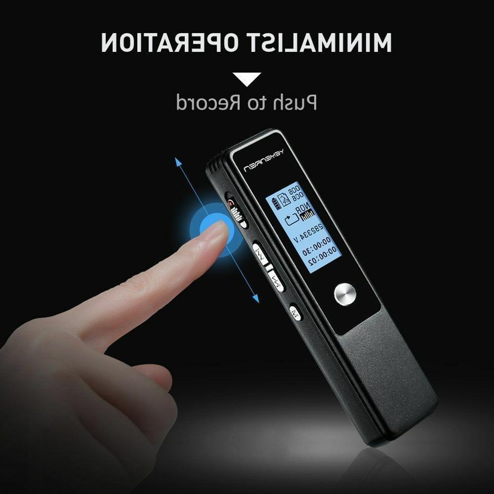 Digital Voice Recorder,8GBAudio Dictaphone,Voice Activated,Double