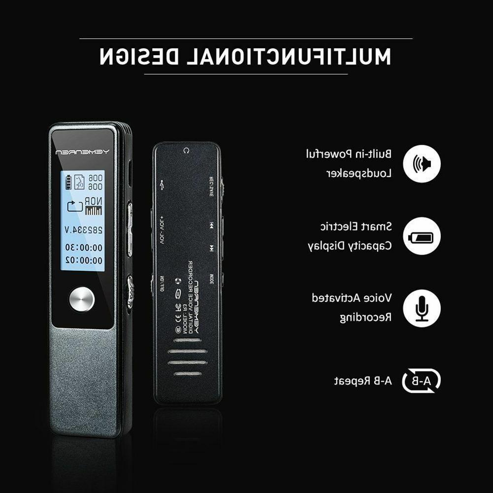 Digital Recorder,8GBAudio Activated,Double