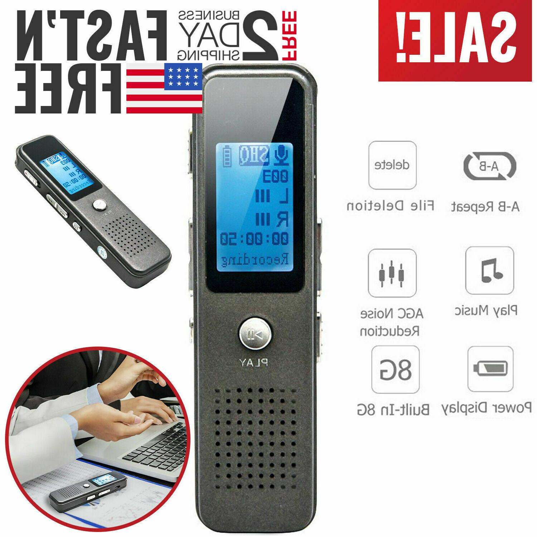 Digital Voice Recorder Dictaphone Audio Sound Record Mini Sm