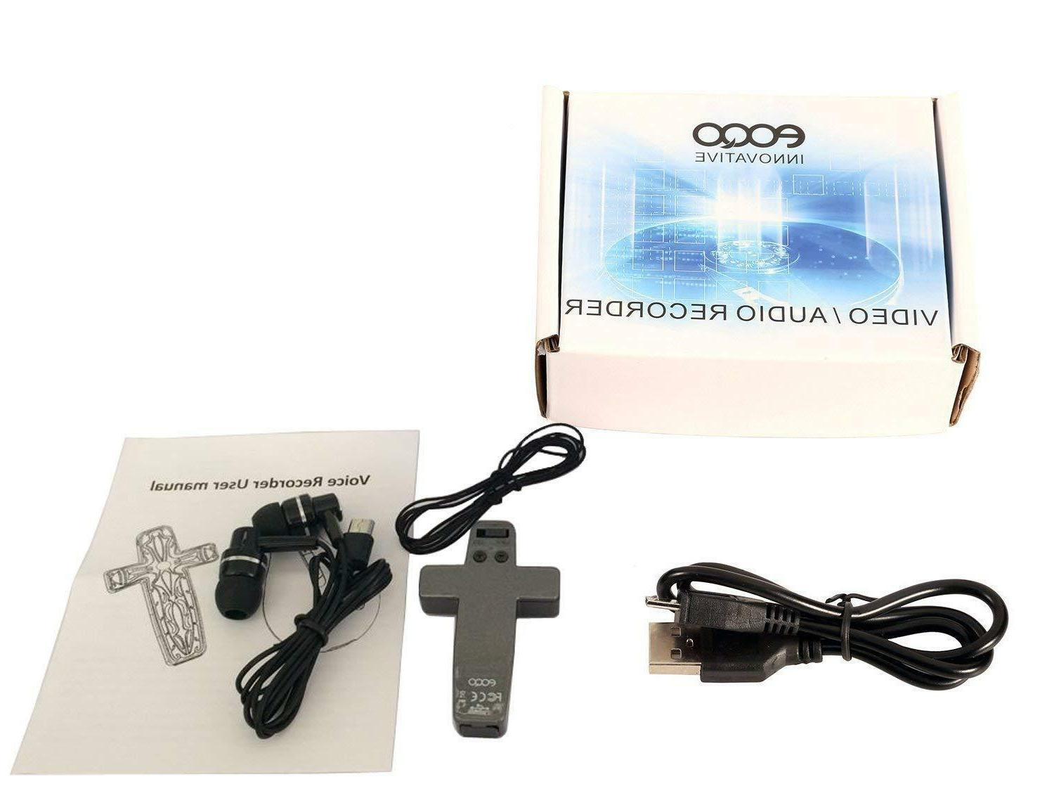 BOOCOSA Model: VR-001/ Multifunction Voice Recorder w/ Ear B