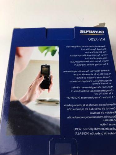Olympus VN-7200 w/ Case 1100 hrs. 2GB - BOX