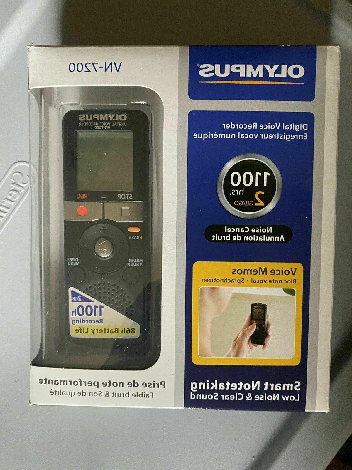 digital voice recorder vn 7200 w case