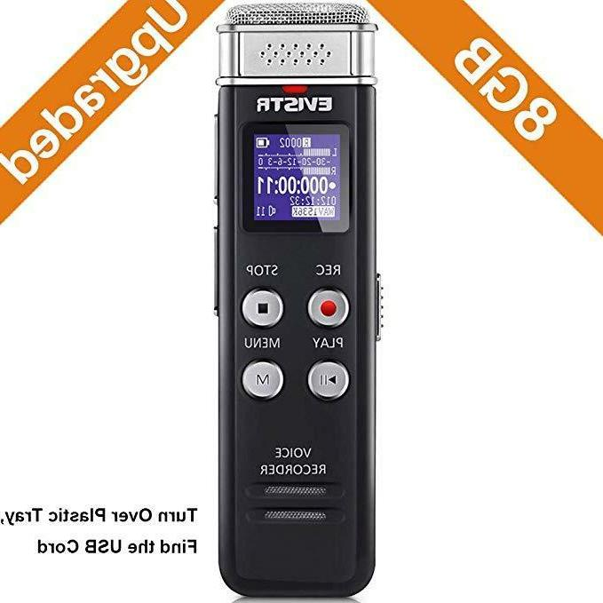 Digital Recorder Voice Activated 8 USB Charge Recording