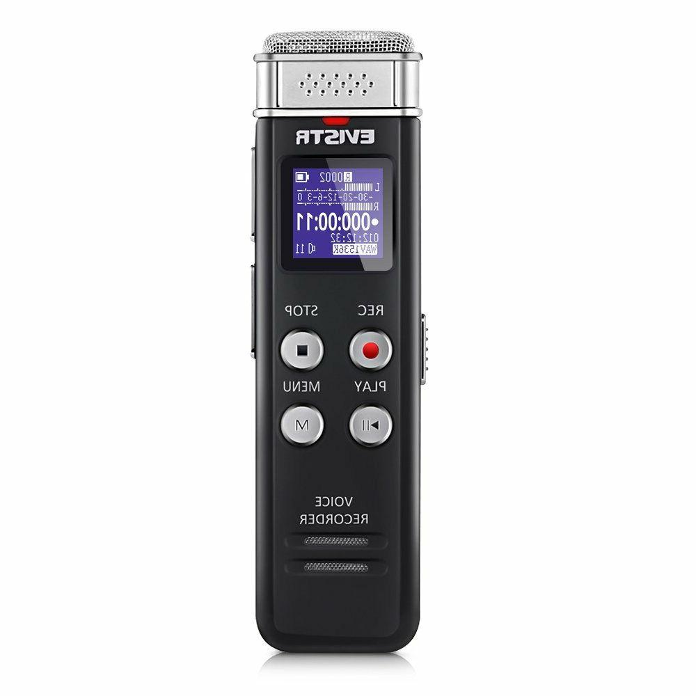 digital voice recorder voice activated 8 gb