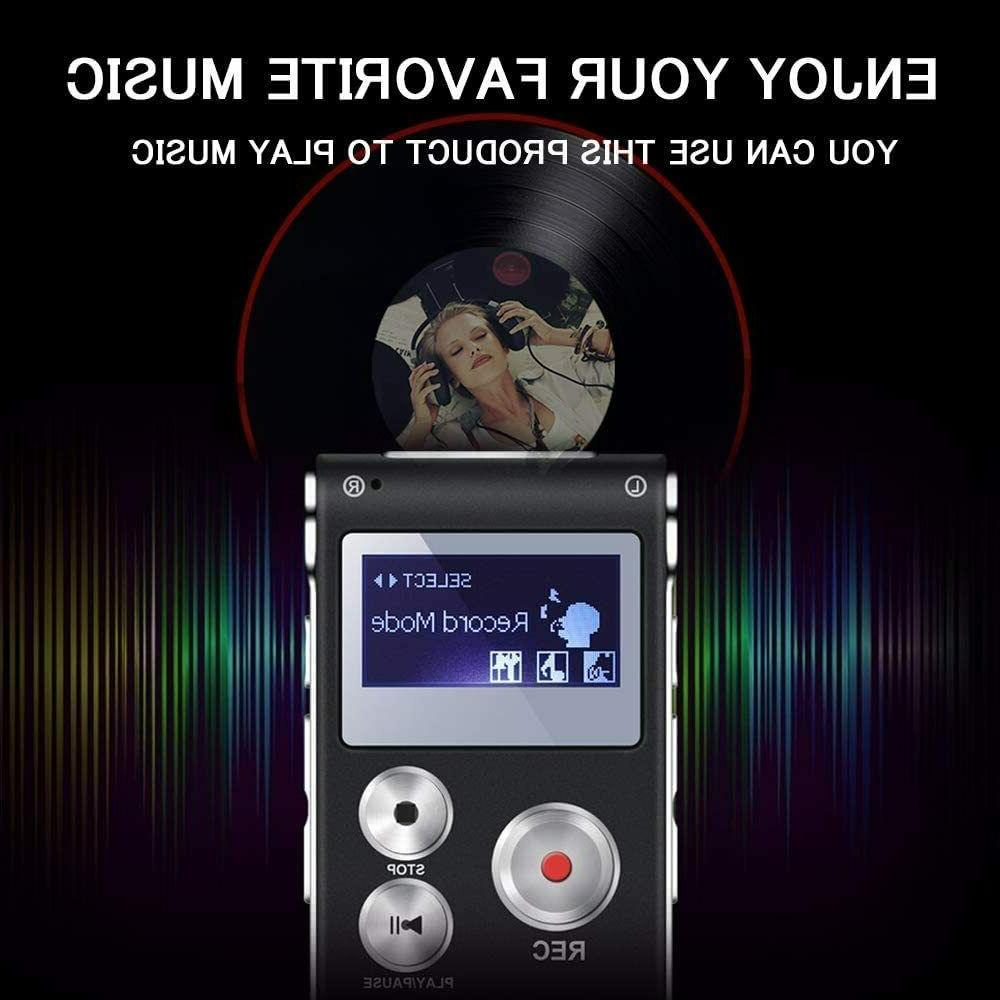 Digital Recorder Voice Activated recorder Lectures, Interviews