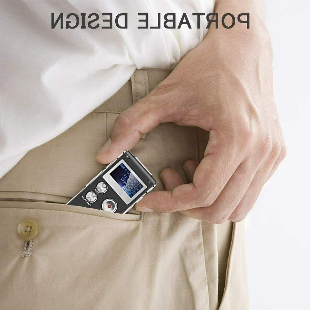 Digital Recorder Voice Activated Lectures,