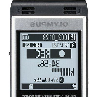 Olympus Digital Voice WS-852 Silver Screen And Speaker