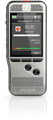 Philips DPM6000 Digital Pocket Memo Voice Recorder with Push