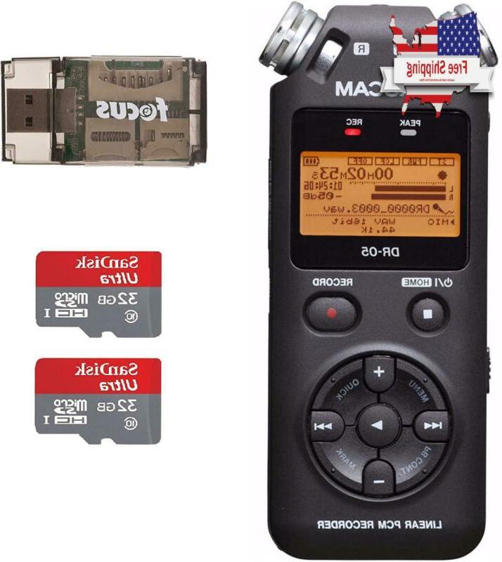 Tascam Dr-05 Portable Digital Recorder W/Sandisk 32Gb Card