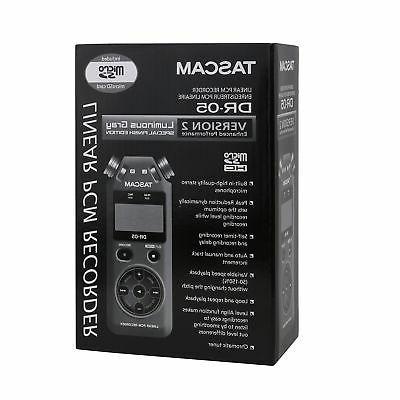 Tascam Version Handheld PCM Portable Audio Recorder Grey V2
