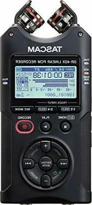 Tascam DR-40X 4-Track Dual Recording Mode LCD Digital Audio