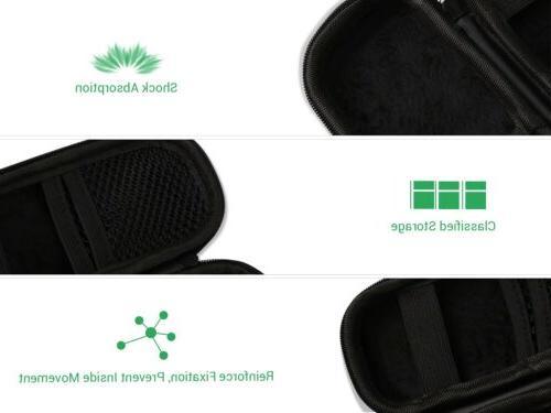 AGPTEK Hard Case Cover for Voice Recorders Earphones Black
