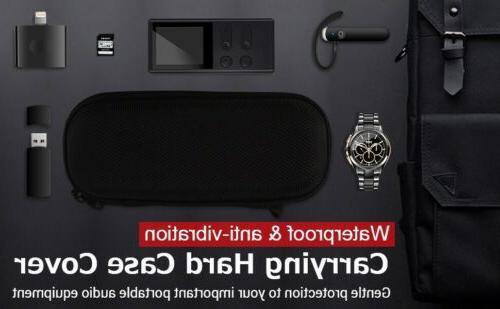 AGPTEK Carrying Hard Case Cover for Voice Recorders Earphones Black