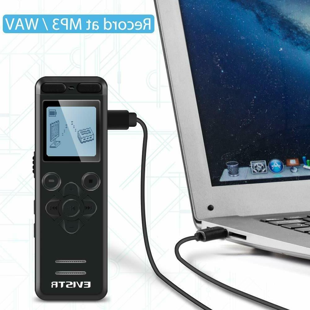 EVISTR Digital Recorder for Recording Devices Voice