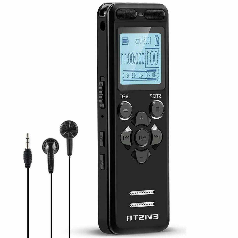 evistr 16gb digital voice recorder for lectures