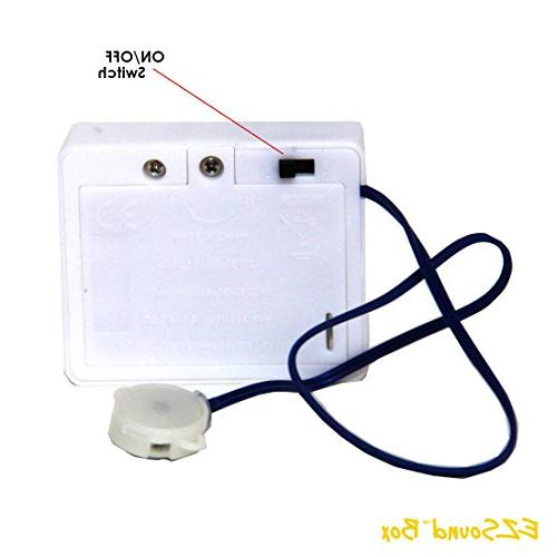 EZSound Box - inch Extension for Projects, Hobbies, Personalized etc - 200 seconds - Rerecordable