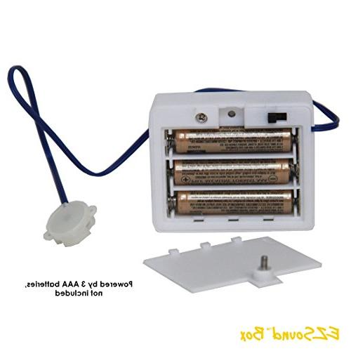 EZSound for Stuffed Animals, Projects, School Personalized Trains, etc - 200 - Rerecordable thru Audio Port