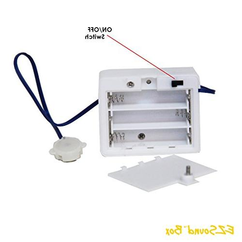 EZSound Box inch Extension for Stuffed Projects, Personalized Model etc - Rerecordable Port