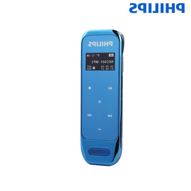 <font><b>PHILIPS</b></font> <font><b>Voice</b></font> <font><b>Recorder</b></font> 8GB Sensor up to audio Display Black Blue VTR6600