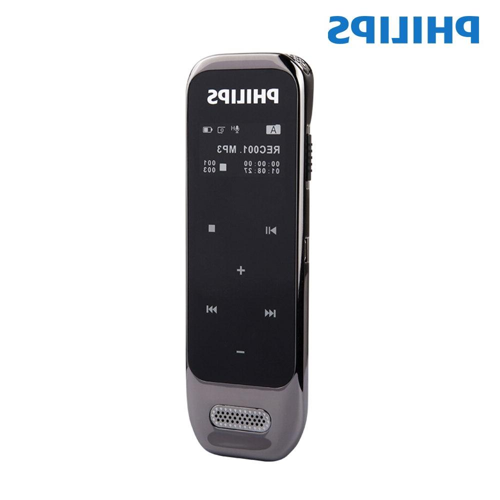 <font><b>PHILIPS</b></font> Original <font><b>Voice</b></font> <font><b>Recorder</b></font> for Sound with USB Cable+Wireless microphone+Earphone+Pouch+Bracket+Guider VTR6600