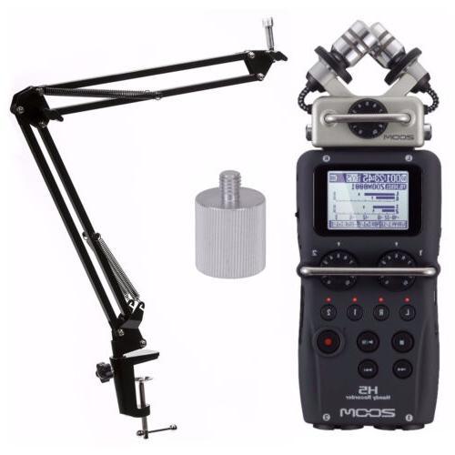 h5 handy recorder with knox suspension boom